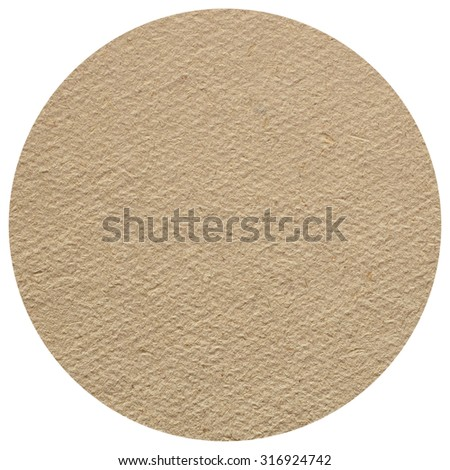 Blank cardboard beermat for a pint of beer isolated over white background - stock photo