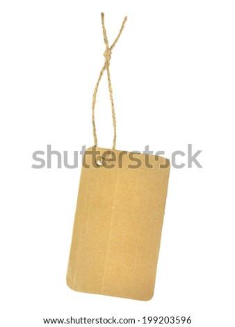 Blank Cardboard Sale Tag Label  - stock photo