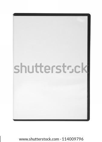 blank case DVD / CD isolated white background - stock photo