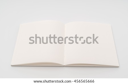 Blank catalog,book mock up on white background