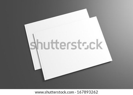 Blank Catalog / Brochure on dark background for your design - stock photo