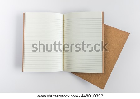 Blank catalog, magazine, book template with soft shadows. Ready for your design. - stock photo