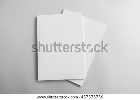 Blank catalog, magazine, book template with soft shadows. Ready for your design - stock photo