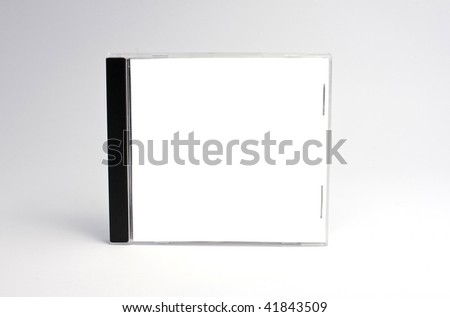 blank cd case isolated,perfect for inserting your own graphics. - stock photo