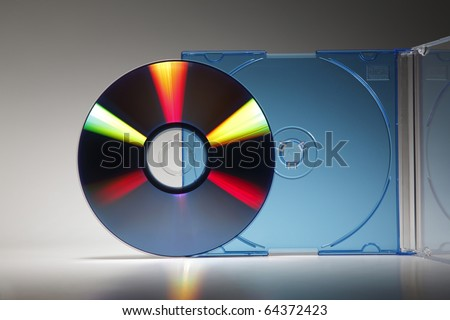 Blank CD Jewel Case. Fill it in with your own graphic. - stock photo