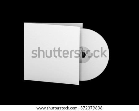 Blank CD with cover