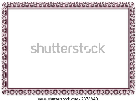Blank Certificate / Award Frame - stock photo