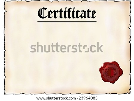 Blank Certificate Red Wax Seal Stock Illustration 23964085 ...