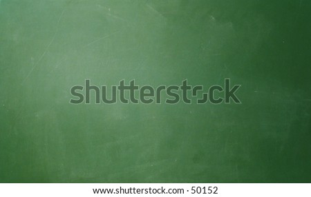 Blank chalkboard surface. - stock photo