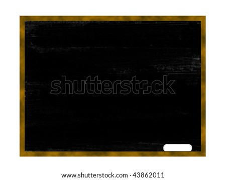 blank chalkboard with a white chalk on it - stock photo
