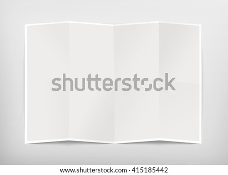 Blank Chart Design Mockup Isolated Clipping Path 3d Ilration Folded Map Template