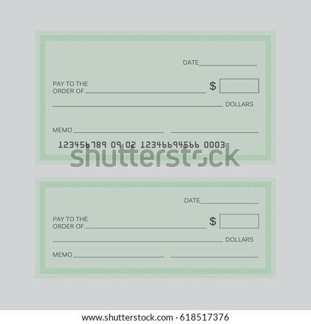 Blank Check Blank Check Template Check Stock Illustration