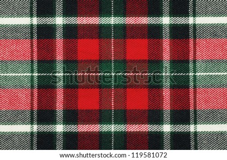 Blank checkered fabric texture, background with copy space - stock photo