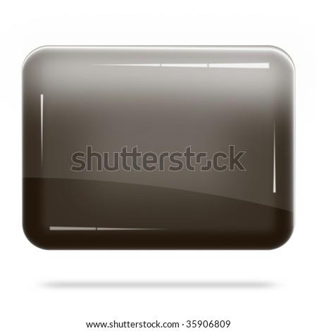 Blank Chocolate Board Float - stock photo