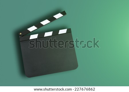 Blank clapper board with copy space - stock photo