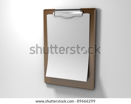 Blank clipboard - stock photo