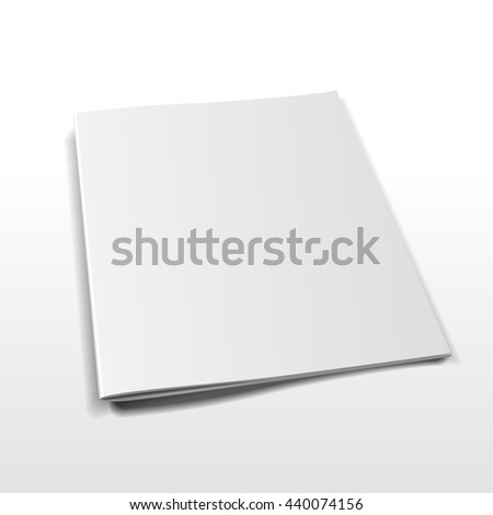 Blank Closed Magazine, Book, Booklet, Brochure. Illustration Isolated On White Background. Mock Up Template Ready For Your Design. Raster copy of vector file. - stock photo