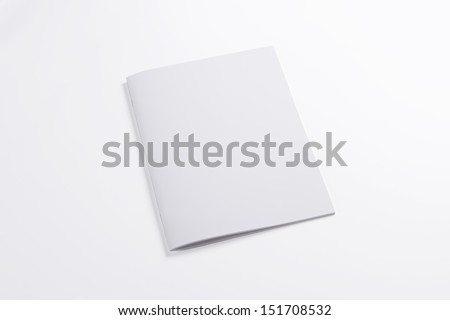 Blank closed magazine isolated on white background - stock photo