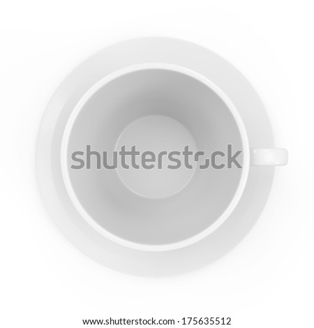 Blank Coffee Cup isolated on white background - stock photo