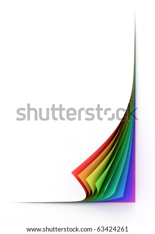 blank colorful paper sheets - stock photo