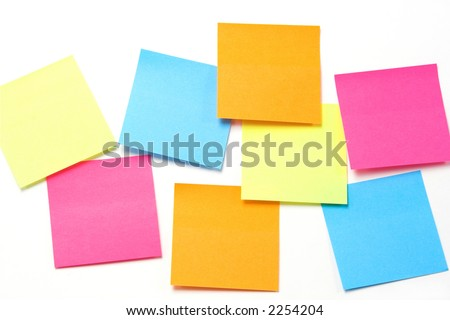 Blank colorful sticky notes...ready for copy
