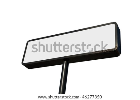 blank commercial billboard isolated on white background - stock photo