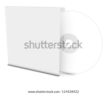 Blank compact disk - stock photo