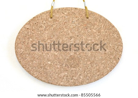 Blank cork board isolated on white background