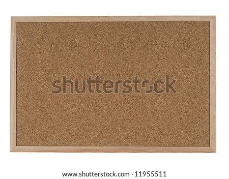 Blank Cork Noticeboard - includes clipping path