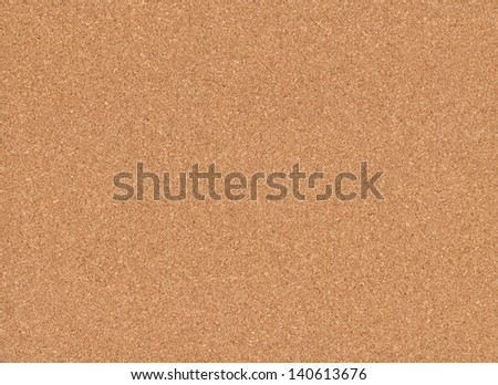 Blank cork plate ready for holding notes, memos, announcements and messages. - stock photo