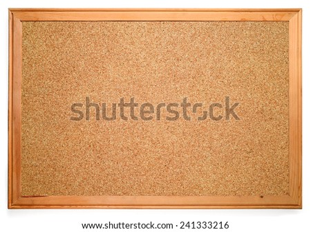 Blank corkboard - stock photo