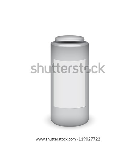 Blank cosmetic container - stock photo