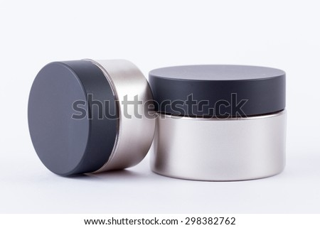 blank cosmetic container isolated on white background  - stock photo