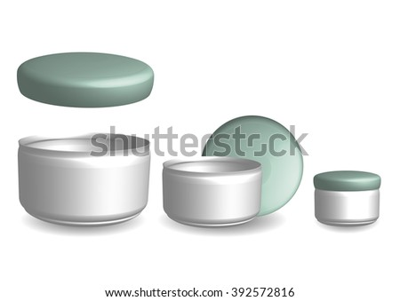 Blank Cosmetic Jar for Make up Cream, Powder or Gel. For Your Design