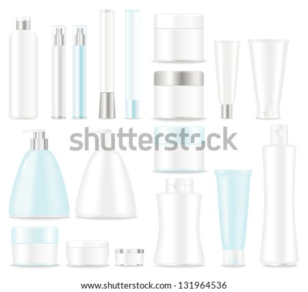 Blank cosmetic tubes  on white background. Place for your text. - stock photo