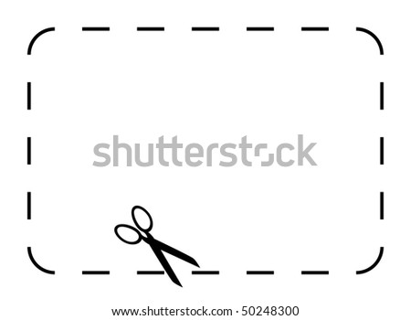 Blank Coupon Voucher Border Isolated On Stock Illustration