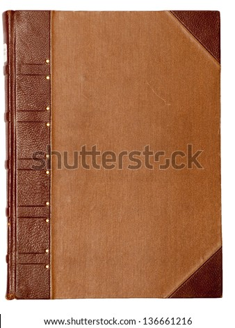 Blank cover of a vintage book - stock photo