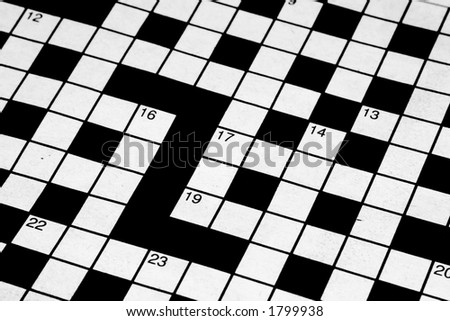 Crossword Puzzle Newspaper Stock Images RoyaltyFree Images