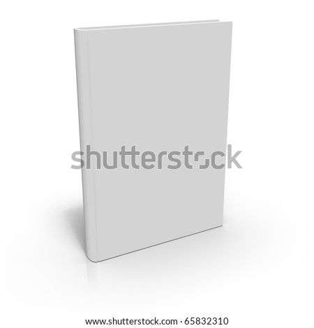 Blank 3d book cover - stock photo
