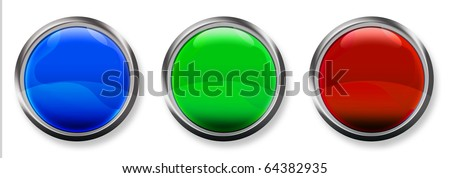 Blank 3-D RGB Buttons - stock photo