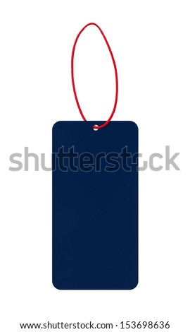Blank description label - stock photo