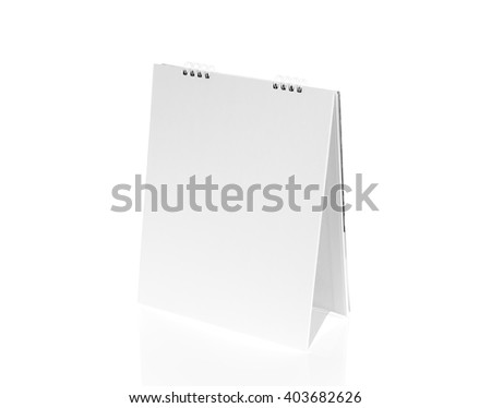 Blank desktop calendar - stock photo