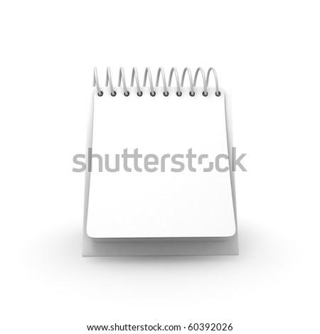 Blank Desktop Calendar Front View - stock photo