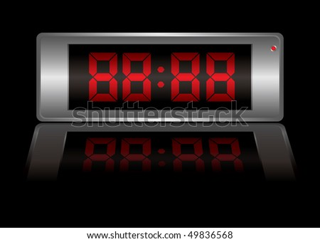 Blank digital alarm clock that you can change to any time you want - stock photo