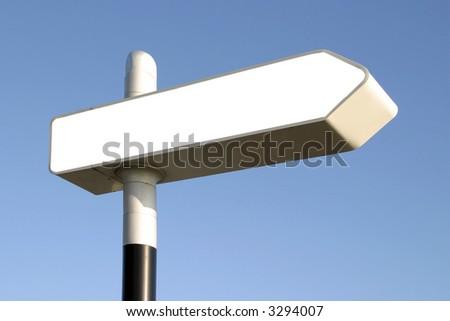 blank direction arrow - stock photo