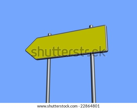 Blank directional sign - stock photo