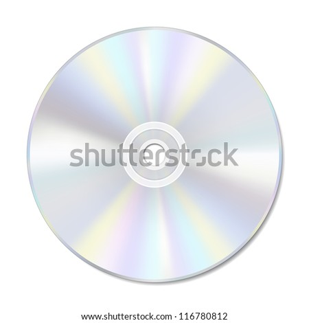 Blank disc on white with space for text. Also available in vector format. - stock photo