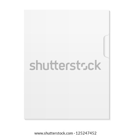 Blank Document and folder isolated on white. Raster version - stock photo