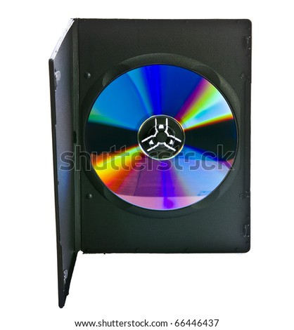 Blank DVD case and disc with room for your text - stock photo
