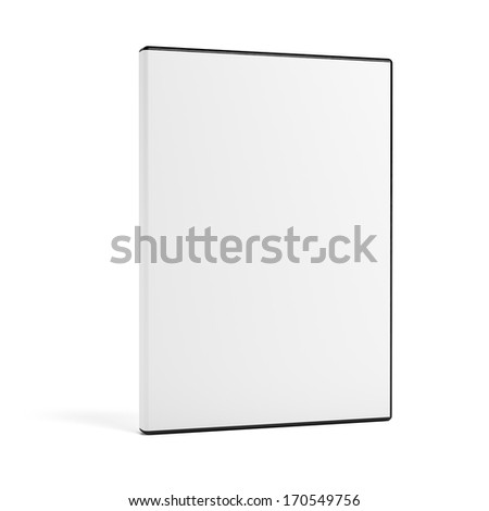 Blank DVD case isolated on white - stock photo